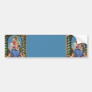 Virgin Mary and Baby Jesus Bumper Sticker