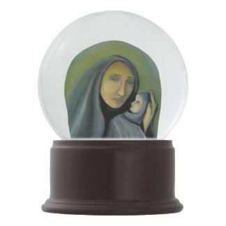 Virgin Mary And Baby Jesus Religious Christmas Snow Globe