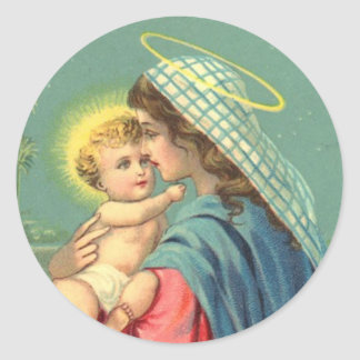 Virgin Mary and Baby Jesus Stickers