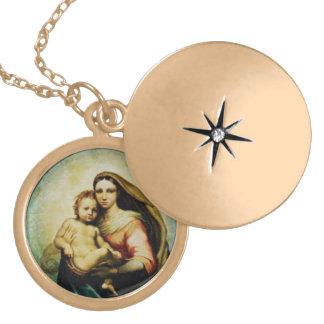 Virgin Mary and Child Jesus locket