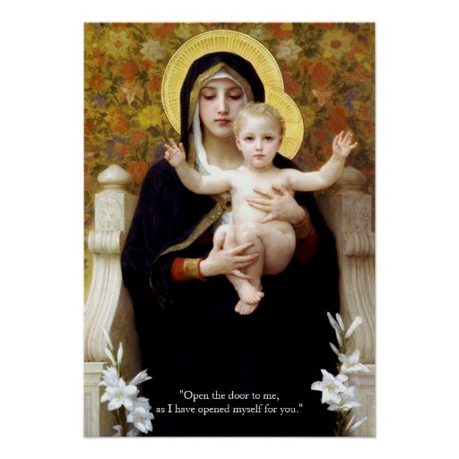Virgin Mary And Jesus Christ Poster