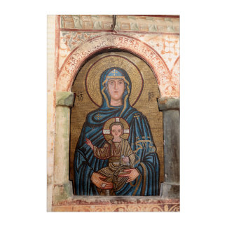 Virgin Mary And Jesus Mosaic Acrylic Print
