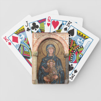 Virgin Mary And Jesus Mosaic Bicycle Playing Cards