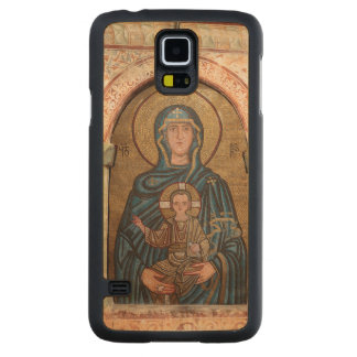 Virgin Mary And Jesus Mosaic Carved Maple Galaxy S5 Case