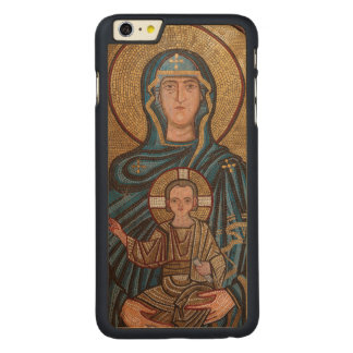 Virgin Mary And Jesus Mosaic Carved Maple iPhone 6 Plus Case