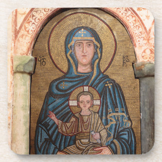 Virgin Mary And Jesus Mosaic Coaster