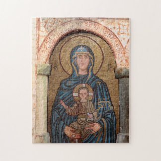 Virgin Mary And Jesus Mosaic Jigsaw Puzzle