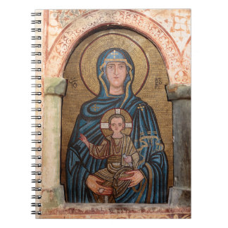 Virgin Mary And Jesus Mosaic Notebook