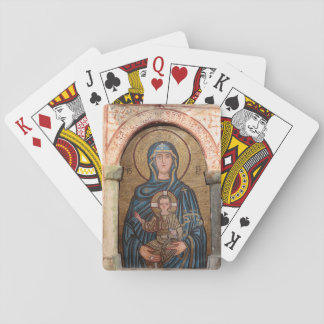 Virgin Mary And Jesus Mosaic Playing Cards