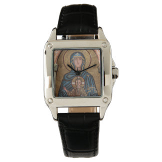 Virgin Mary And Jesus Mosaic Watch
