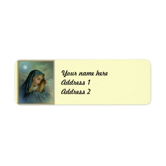 Virgin Mary Assumption Return Address Label