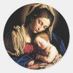 Virgin Mary Assumption Round Sticker