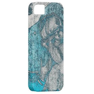 Virgin Mary Baby Jesus Angel Portrait Vintage Blue iPhone 5 Case