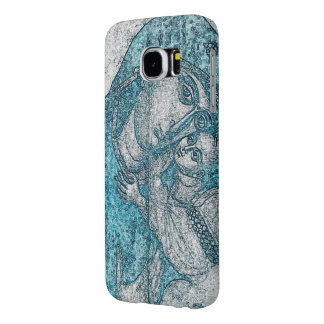 Virgin Mary Baby Jesus Angel Portrait Vintage Blue Samsung Galaxy S6 Cases