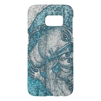 Virgin Mary Baby Jesus Angel Portrait Vintage Blue Samsung Galaxy S7 Case