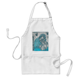 Virgin Mary Baby Jesus Angel Portrait Vintage Blue Standard Apron