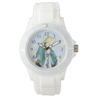 Virgin Mary Crescent Moon Watch_With Numbers Wristwatch