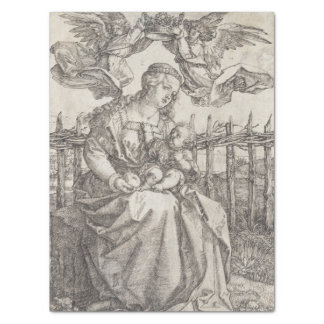Virgin Mary Crowned by Two Angels by Durer Tissue Paper