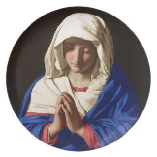 Virgin Mary Dinner Plates