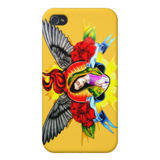 Virgin Mary halo wings iPhone 4 Cover