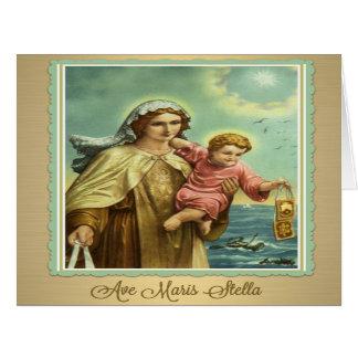 Virgin Mary Mt. Carmel Maris Stella Card