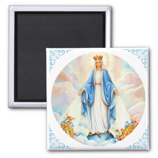 Virgin Mary of Grace Medal Queen Crown Magnet