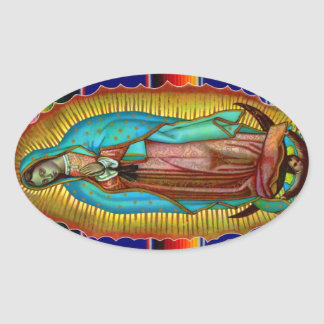 Virgin Mary Our Lady of Guadalupe Tilma Stickers