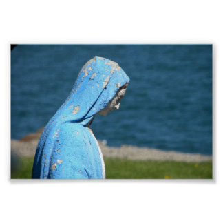 Virgin Mary overlooking the Atlantic Ocean Poster