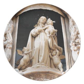 Virgin Mary Plate