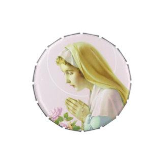 Virgin Mary Prayer Candy Tin