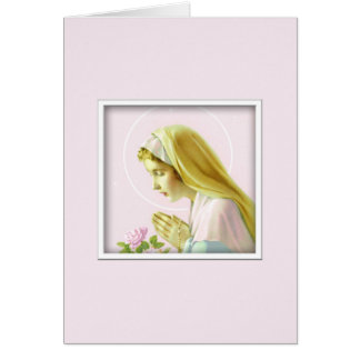 Virgin Mary Prayer Card