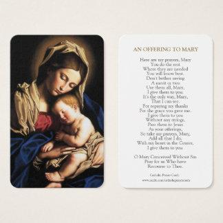 Virgin Mary Prayer Cards | Mary & Baby Jesus