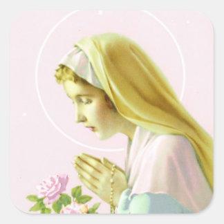 Virgin Mary Prayer Sticker