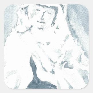 Virgin Mary Praying Square Sticker