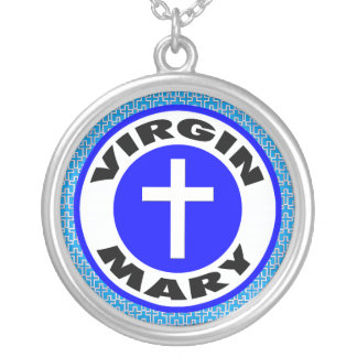 Virgin Mary Silver Plated Necklace