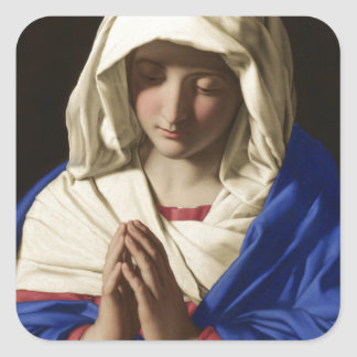 Virgin Mary Square Sticker