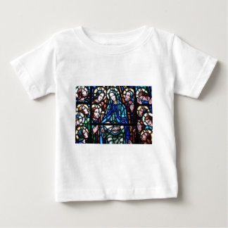 Virgin Mary stained glass window Baby T-Shirt