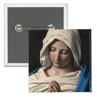 Virgin Mary / Virgen Maria 2 Inch Square Button