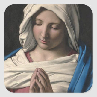 Virgin Mary / Virgen Maria Square Sticker