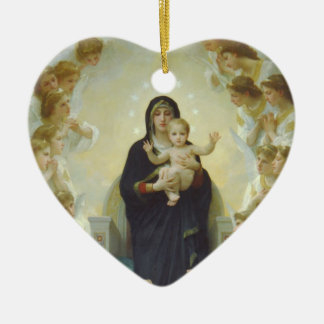 Virgin Mary with Baby Jesus and Angels Ceramic Ornament