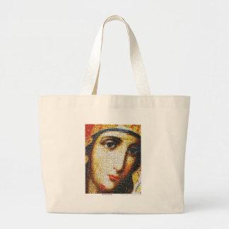 Virgin Mary with Saints Jumbo Tote Bag