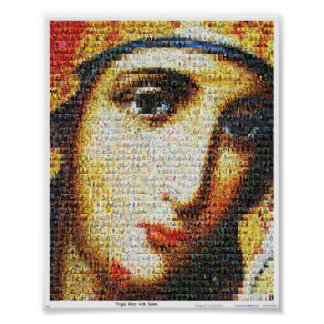 Virgin Mary with Saints Posters