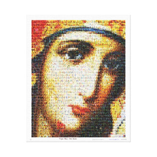 Virgin Mary with Saints Stretched Canvas Print
