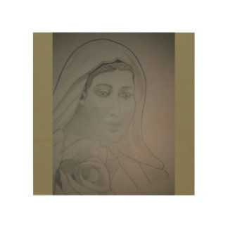Virgin Mary Wood Wall Decor