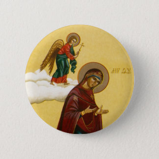 Virgin Mary's Russian icon 2 Inch Round Button