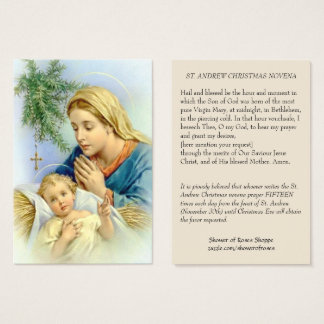 Virgin Mother Mary and Baby Jesus Holy Card