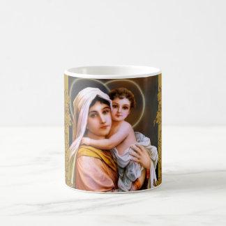 Virgin Mother Mary Baby Jesus Boughs Coffee Mug