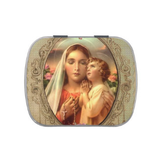 Virgin Mother Mary Baby Jesus Rosary Case
