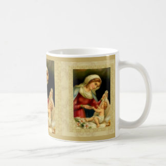 Virgin Mother Mary with Baby Jesus lily Coffee Mug