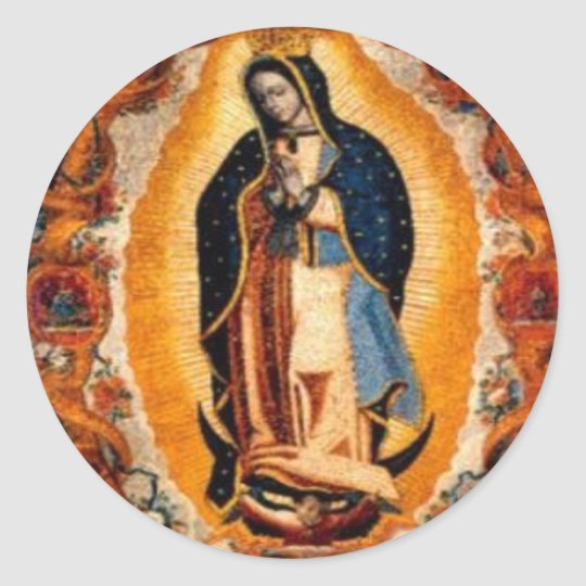 Virgin of Guadalupe Classic Round Sticker